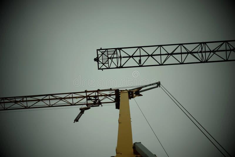 shipbuilding cranes stock image