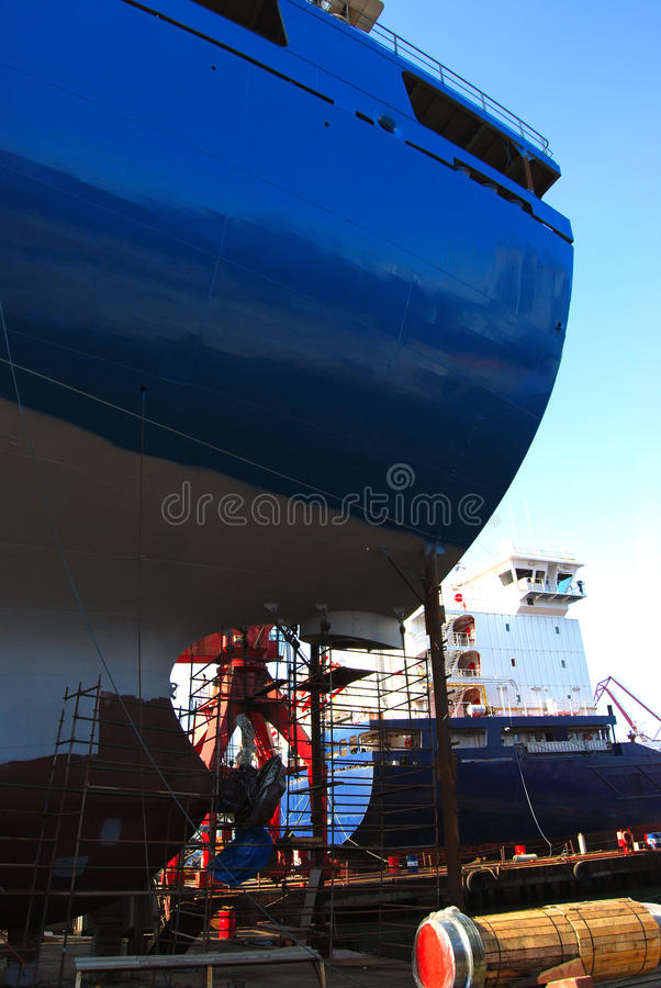 Shipbuilding. New to the largest dry bulk carrier stock images