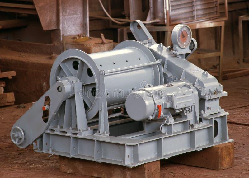 Shipbuilding, ship equipment stock image