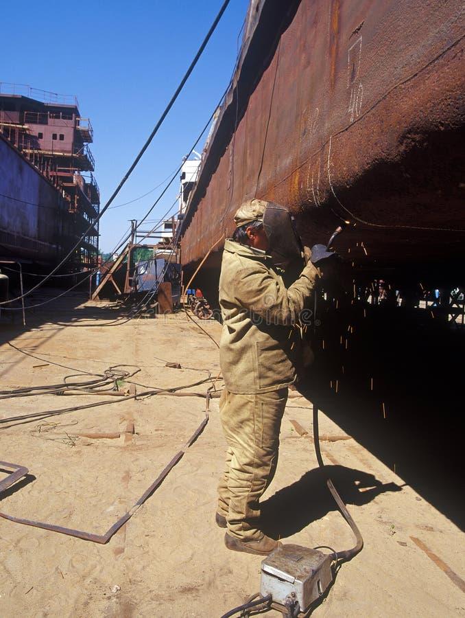 Shipbuilding, ship repair royalty free stock photography