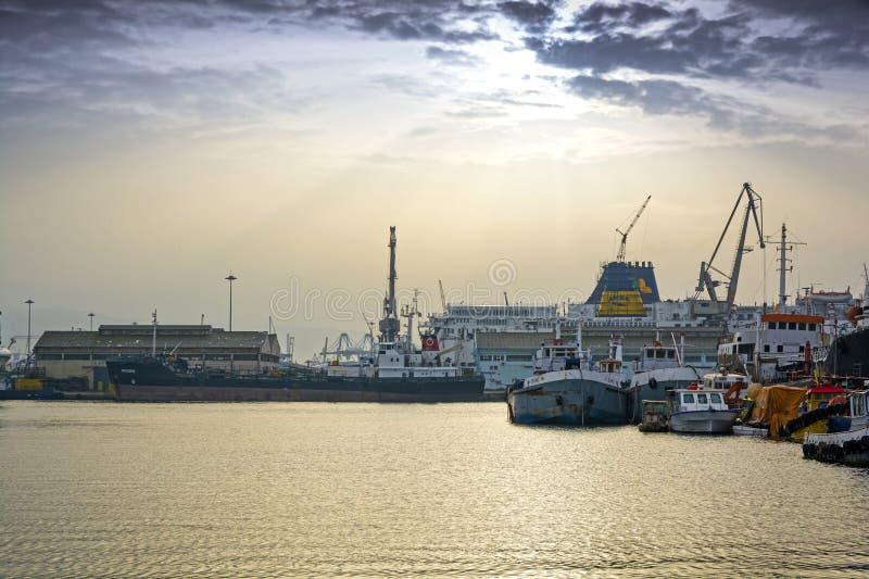 Shipbuilding zone stock photo