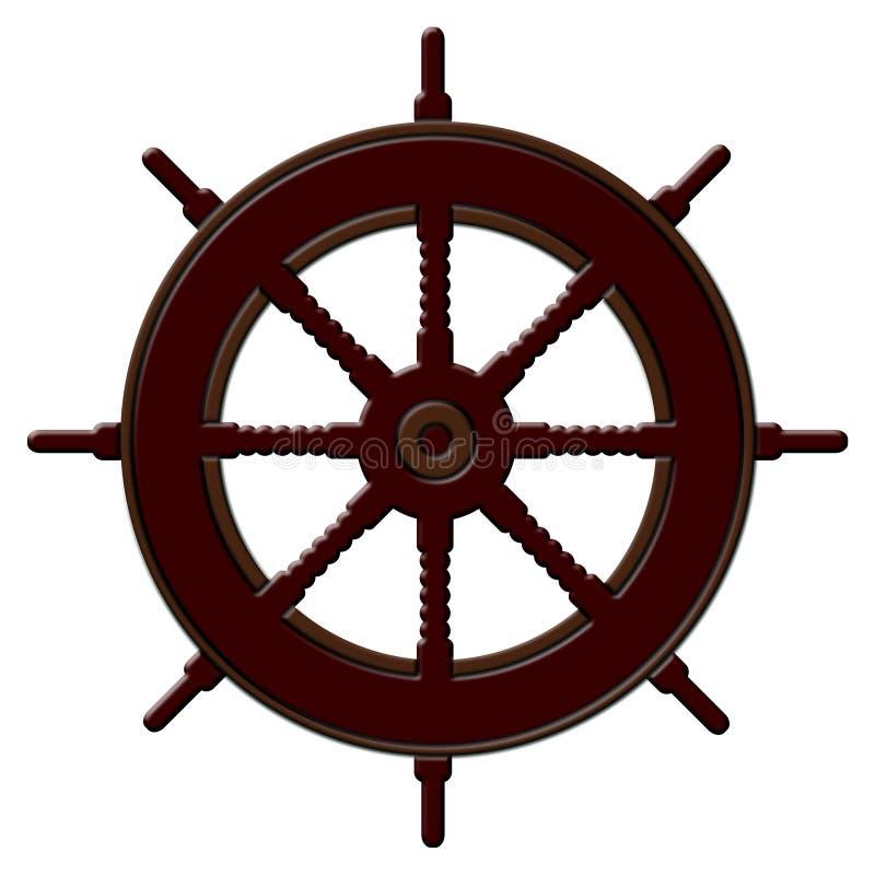 shiphjul royaltyfri illustrationer