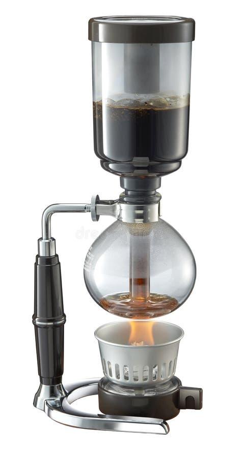 Shiphone kaffebryggare i vit bakgrund royaltyfri bild