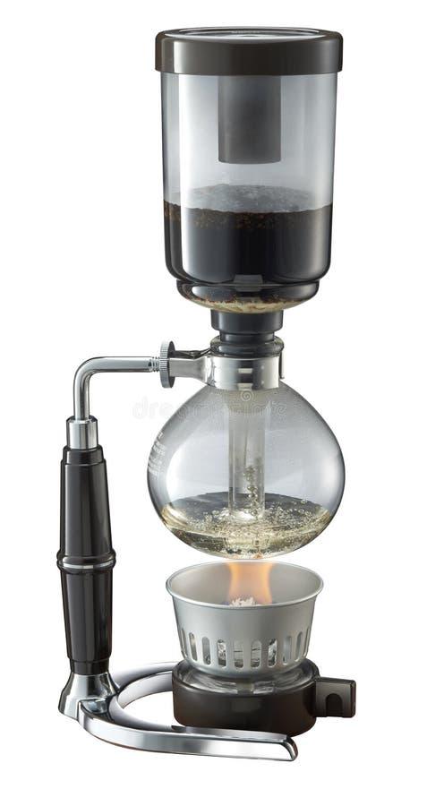 Shiphone-Kaffeemaschine im weißen Hintergrund lizenzfreie stockfotografie