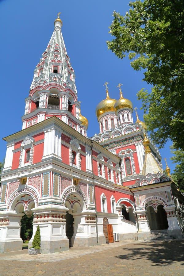 SHIPKA, BULGÁRIA: Igreja do memorial de Shipka imagem de stock royalty free
