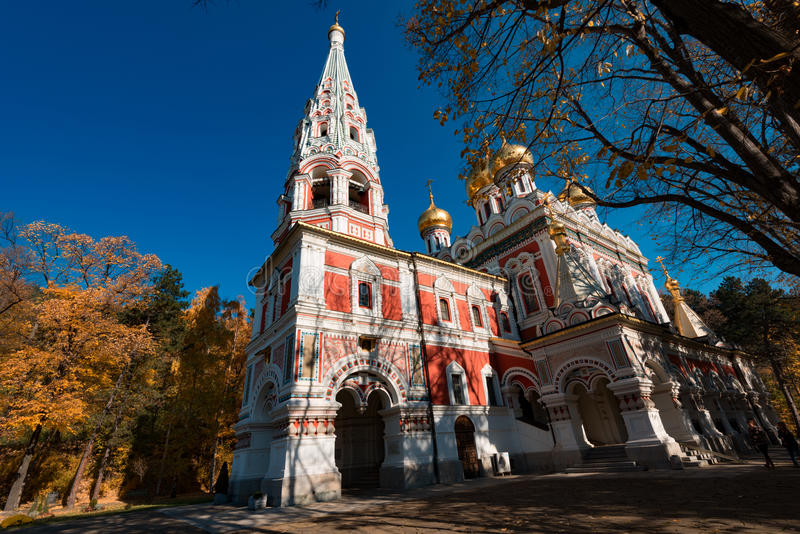 Shipka Memorial Church, town of Shipka, Bulgaria. stock photography