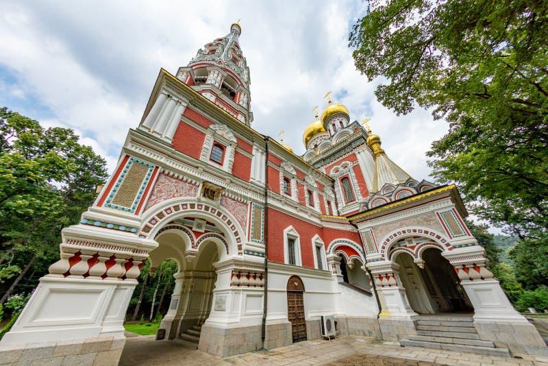 Shipka Memorial Church Monastery in Bulgaria, back view royalty free stock photos