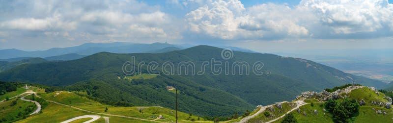 Shipka Pass - a scenic mountain pass through the Balkan Mountains in Bulgaria. stock photo