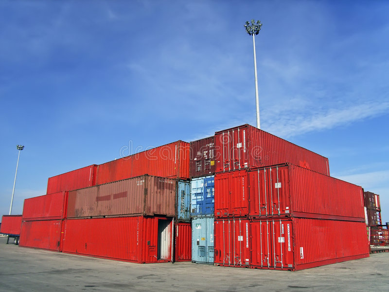 Shipment Containers royalty free stock image