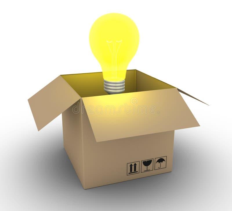 Download Shipment of an idea stock illustration. Illustration of innovation - 30891621