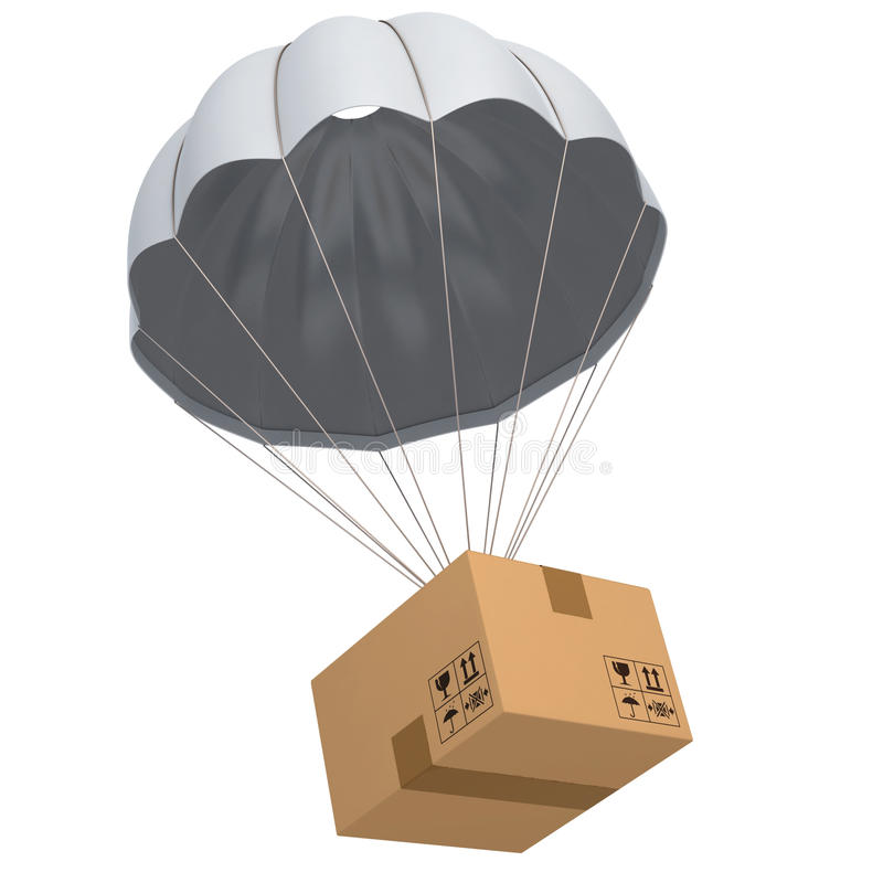 Shipping 3d concept vector illustration