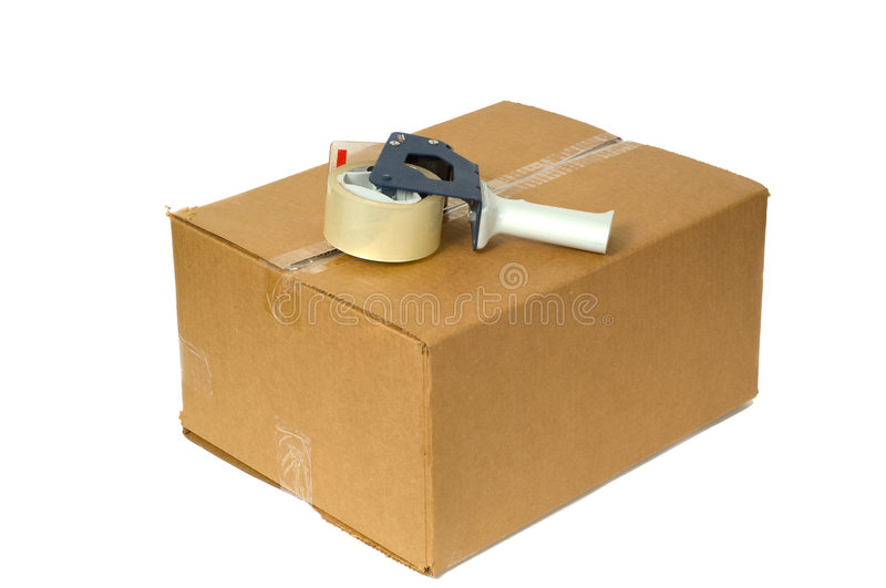 Download Shipping Box stock photo. Image of sticky, cardboard, serrated - 3259290