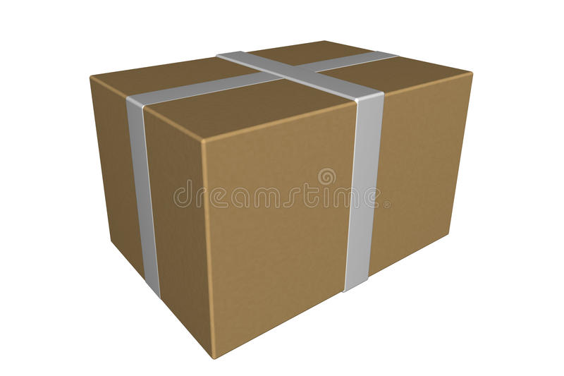 Download Shipping box package stock illustration. Image of carton - 14626086