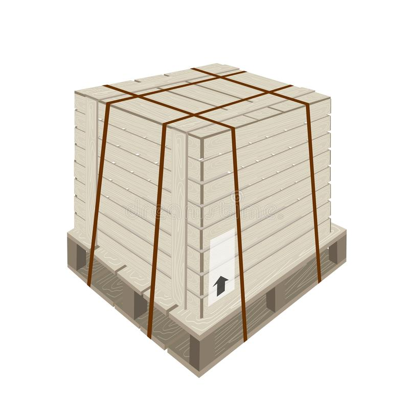 A shipping box with steel strapping on pallet stock images for Metal shipping crate