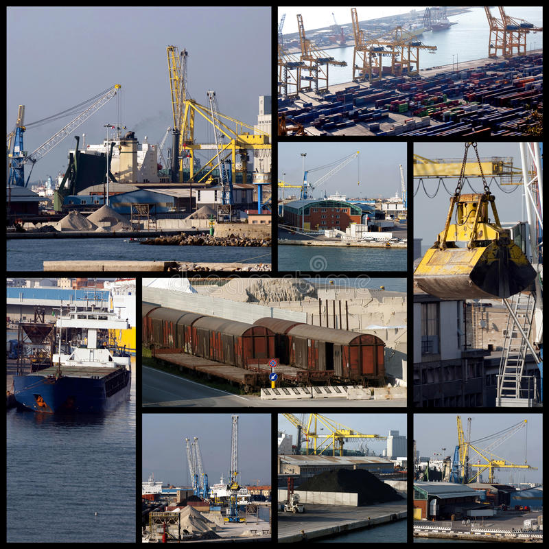 Download Shipping collage stock photo. Image of harbour, delivery - 15302798