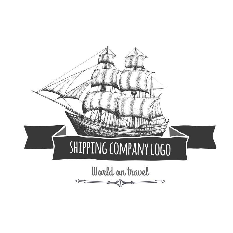 Shipping company logo. Vector eps10 isolated illustration stock illustration