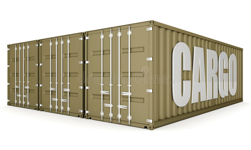 Download Shipping container stock illustration. Image of freight - 21123264