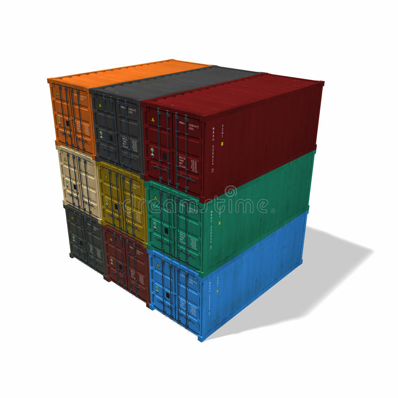 Download Shipping container stock illustration. Illustration of goods - 21426571