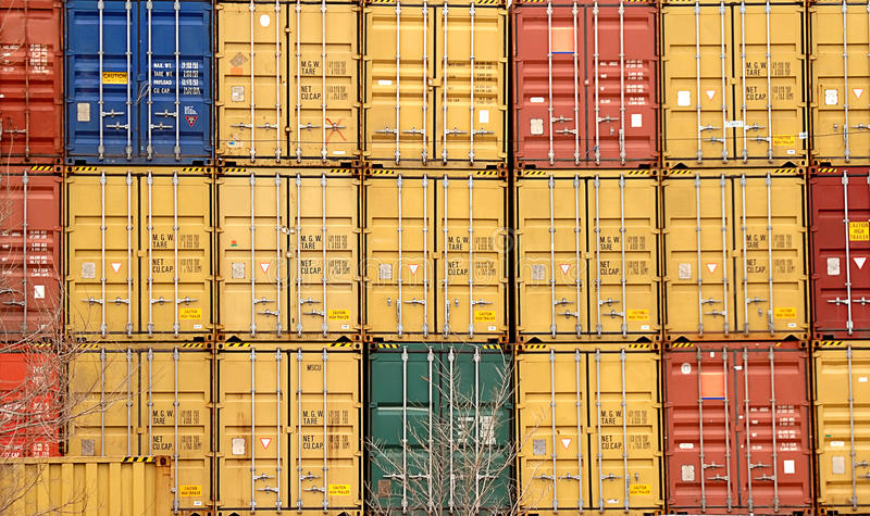 Download Shipping Container stock image. Image of railroad, export - 22090197