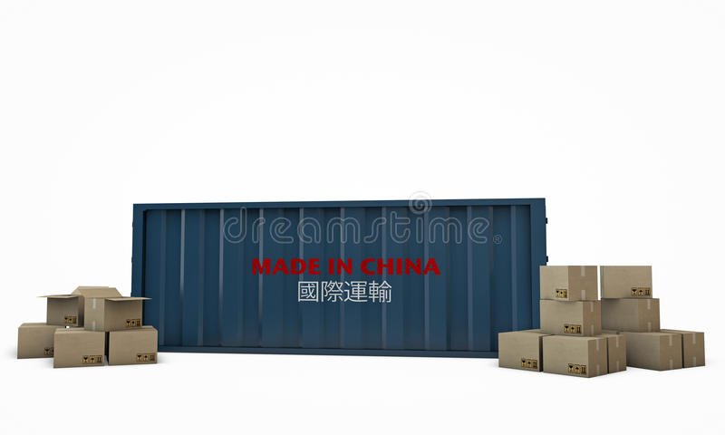 Download Shipping container stock illustration. Illustration of pack - 26135884