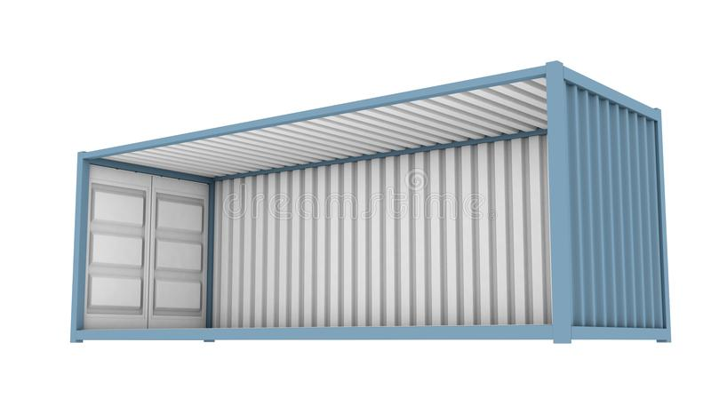 Shipping Container Cutaway vector illustration