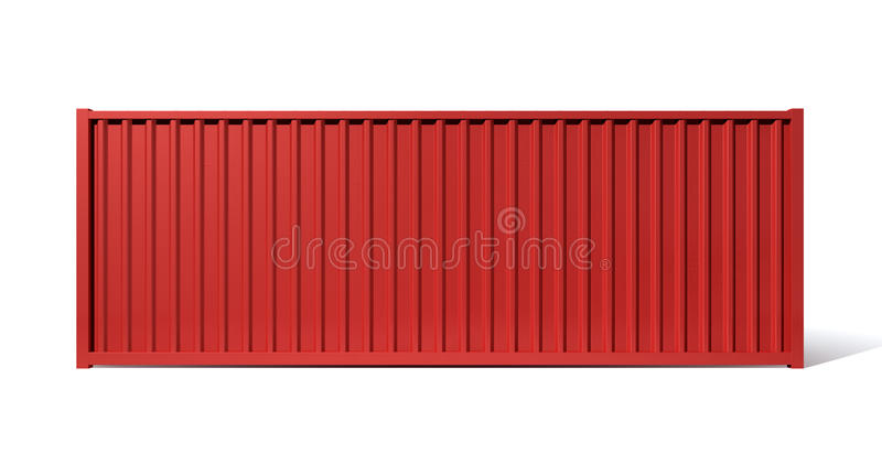 Shipping Container Red royalty free illustration