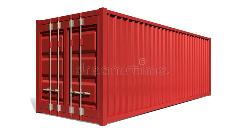 Shipping Container Red stock illustration
