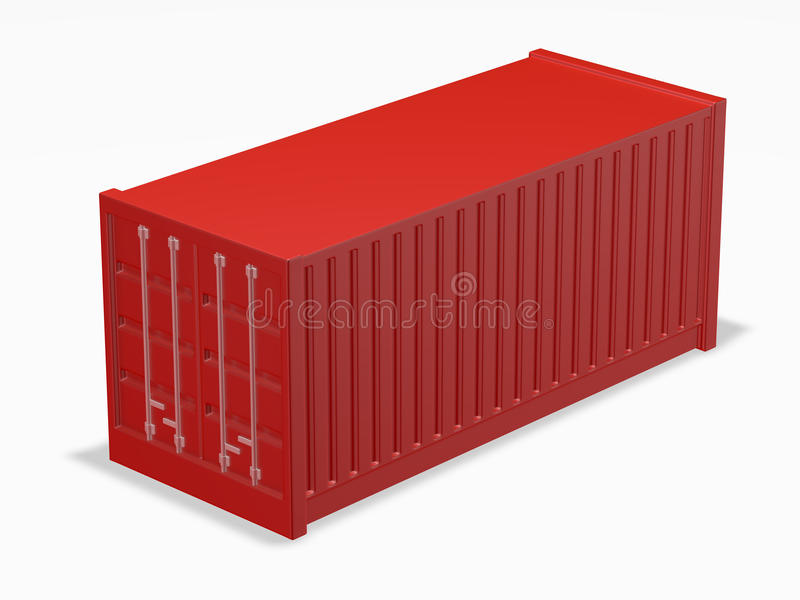 Shipping container stock illustration