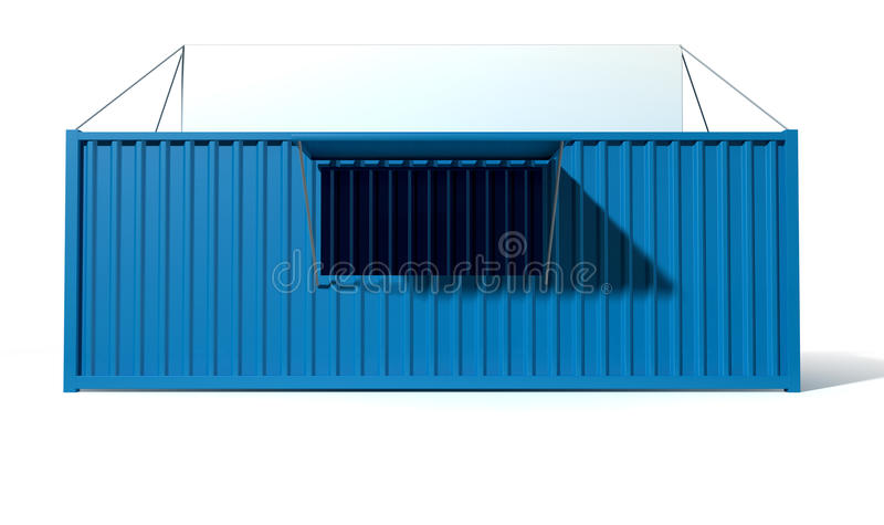 Shipping Container Spaza Shop stock illustration