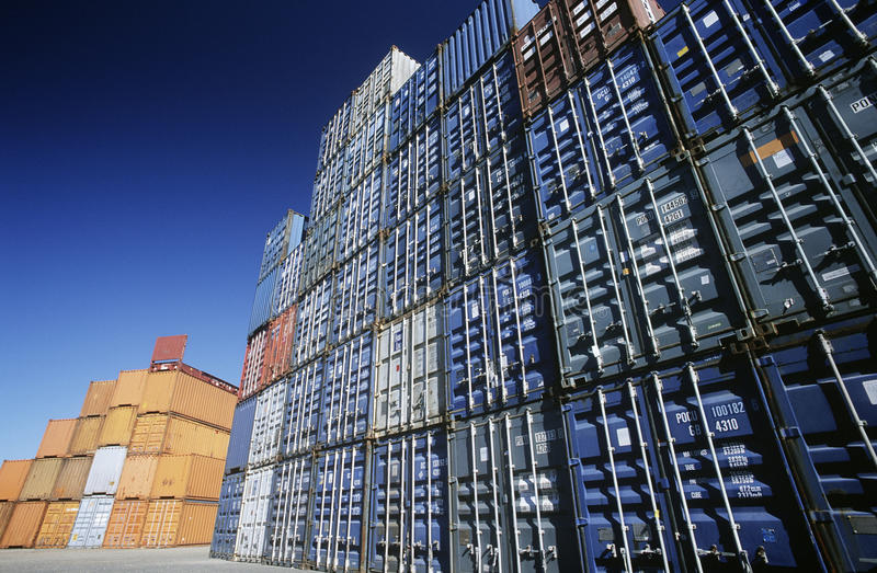 Delightful Download Shipping Container In Storage Yard Editorial Image   Image:  30847400