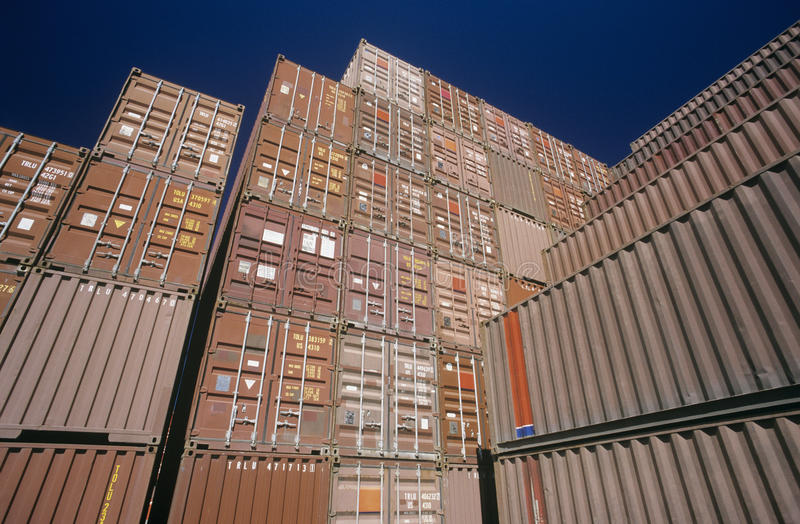 Download Shipping Container In Storage Yard Editorial Image   Image:  30847455