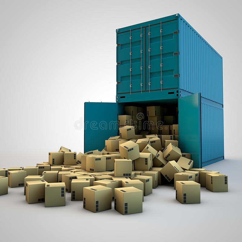 Download Shipping containers stock illustration. Image of industry - 24671701