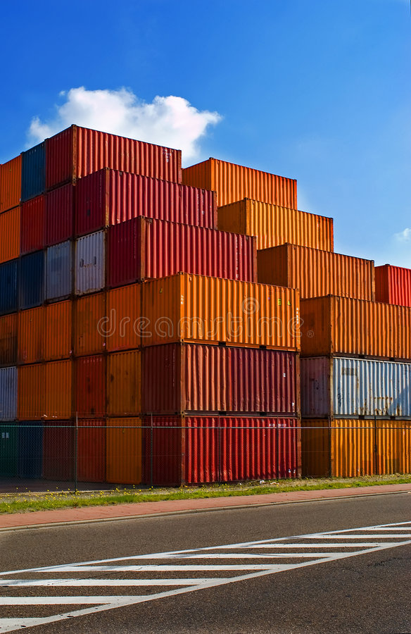 Download Shipping containers stock image. Image of stacked, marine - 6488873
