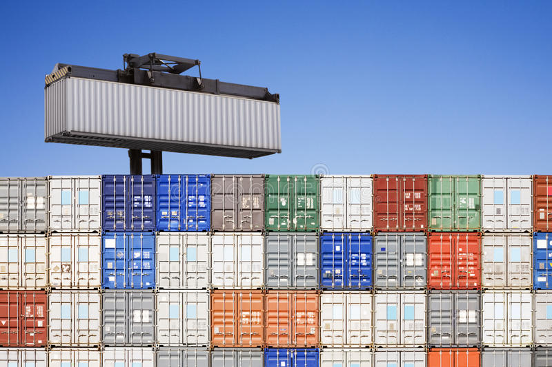 Download Shipping Containers Stacked Stock Image - Image of shipping, stacked: 25246129