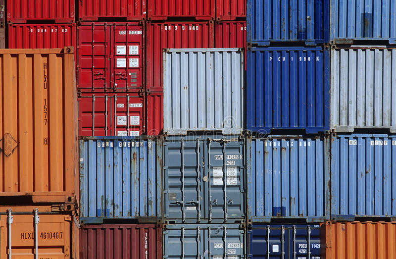 Download Shipping Containers In Storage Yard Editorial Image   Image:  30847605