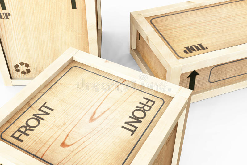 Download Shipping Crates stock illustration. Illustration of wood - 18897127