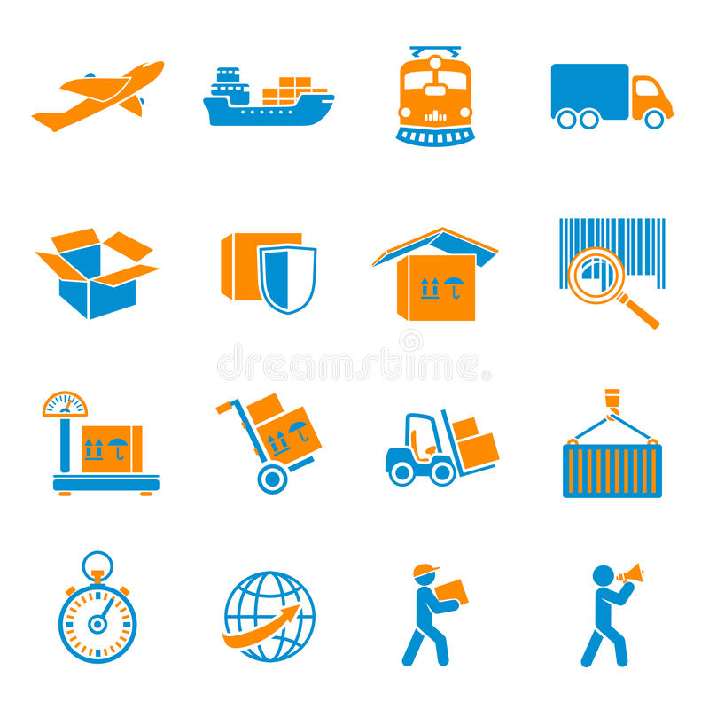 Shipping Delivery Icons Set royalty free illustration