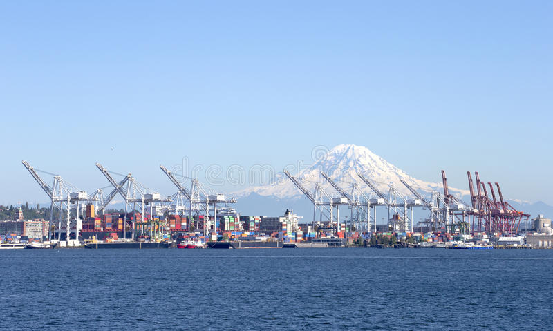 Shipping docks royalty free stock images