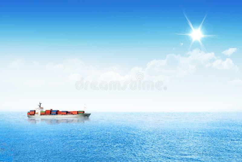 Shipping goods though the ocean. royalty free stock photos