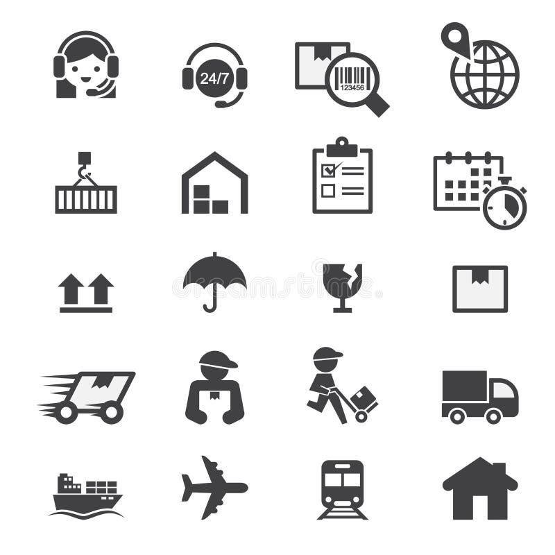 Shipping icon set vector illustration