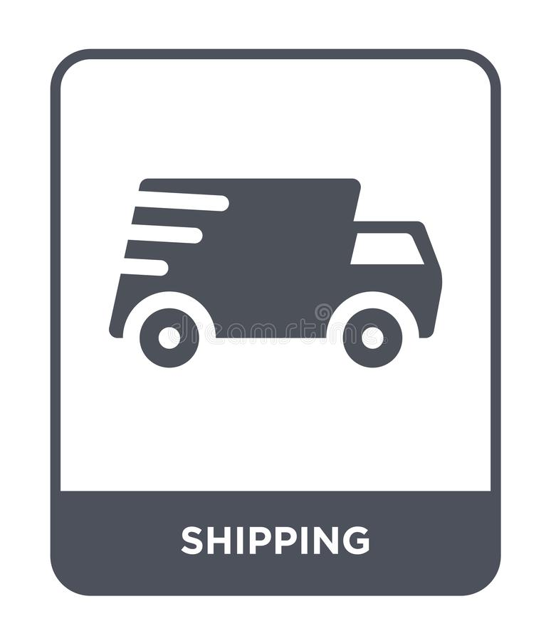Shipping icon in trendy design style. shipping icon isolated on white background. shipping vector icon simple and modern flat. Symbol for web site, mobile, logo stock illustration