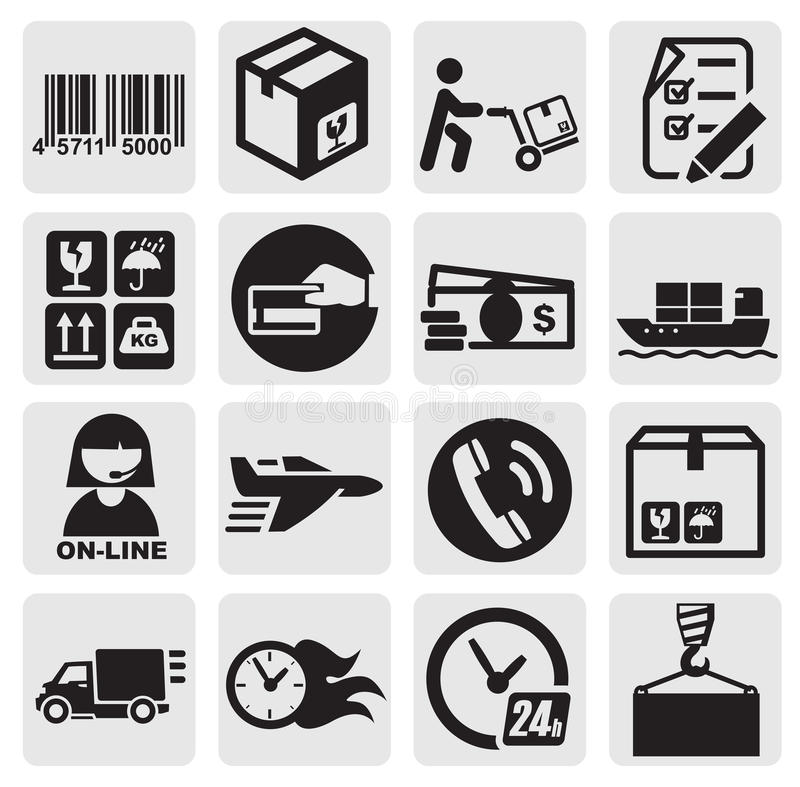 Shipping icons vector illustration