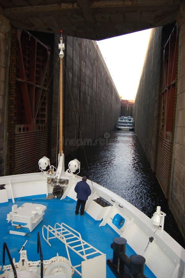Shipping lock royalty free stock photos