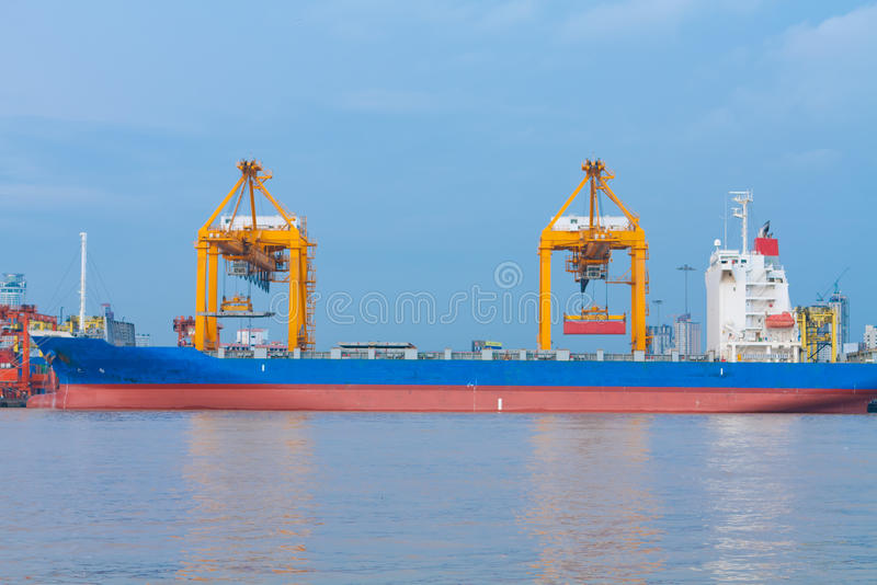 Download Shipping port stock image. Image of harbor, carrier, nautical - 26843521