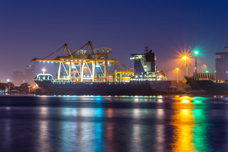 Download Shipping Port stock image. Image of container, boat, crane - 36366941
