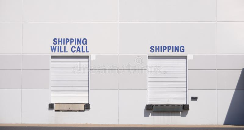 Shipping Hub Distribution Center. A shipping and receiving hub at a freight and cargo goods distribution center royalty free stock photography