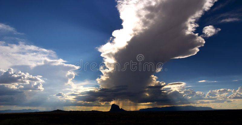 Download Shiprock Cloud stock image. Image of mexico, rain, cloud - 367981