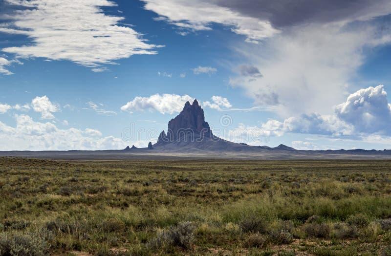 Shiprock, New Mexico stock photo