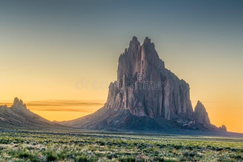 Shiprock, New Mexico stock photography