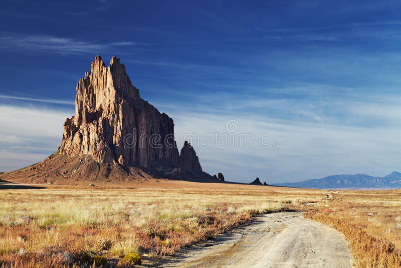 Shiprock, New Mexiko, USA stockfotografie